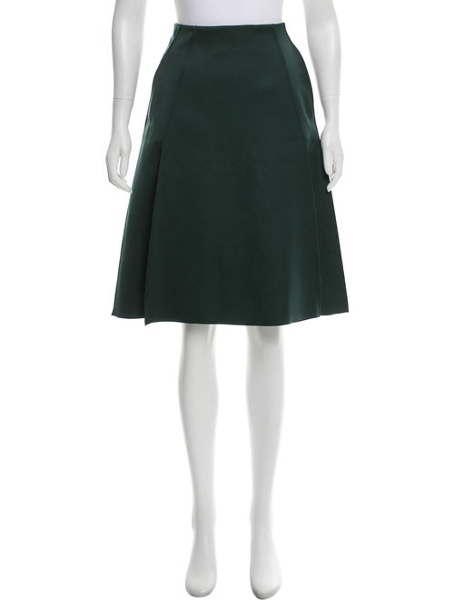 Cédric Charlier Pleated Midi Skirt Green