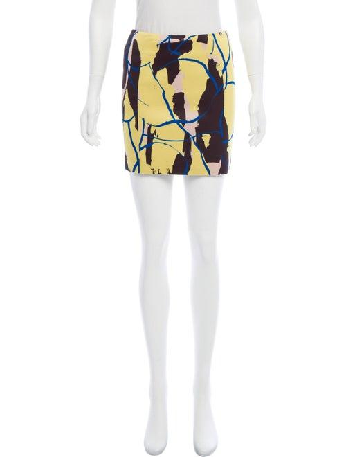 Cédric Charlier Printed Mini Skirt Yellow
