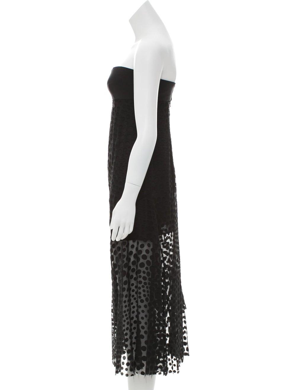 Cédric Charlier Strapless Fil-Coupé Dress Black - image 2
