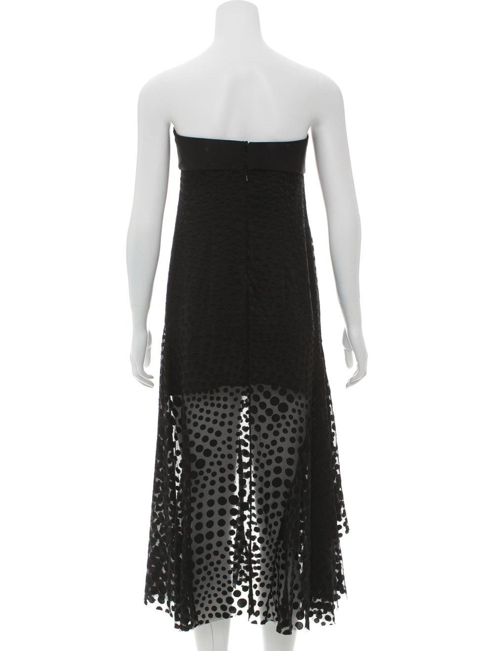Cédric Charlier Strapless Fil-Coupé Dress Black - image 3