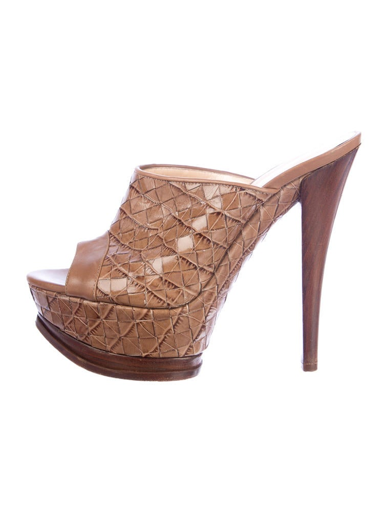 casadei platform mules shoes cei20341 the realreal