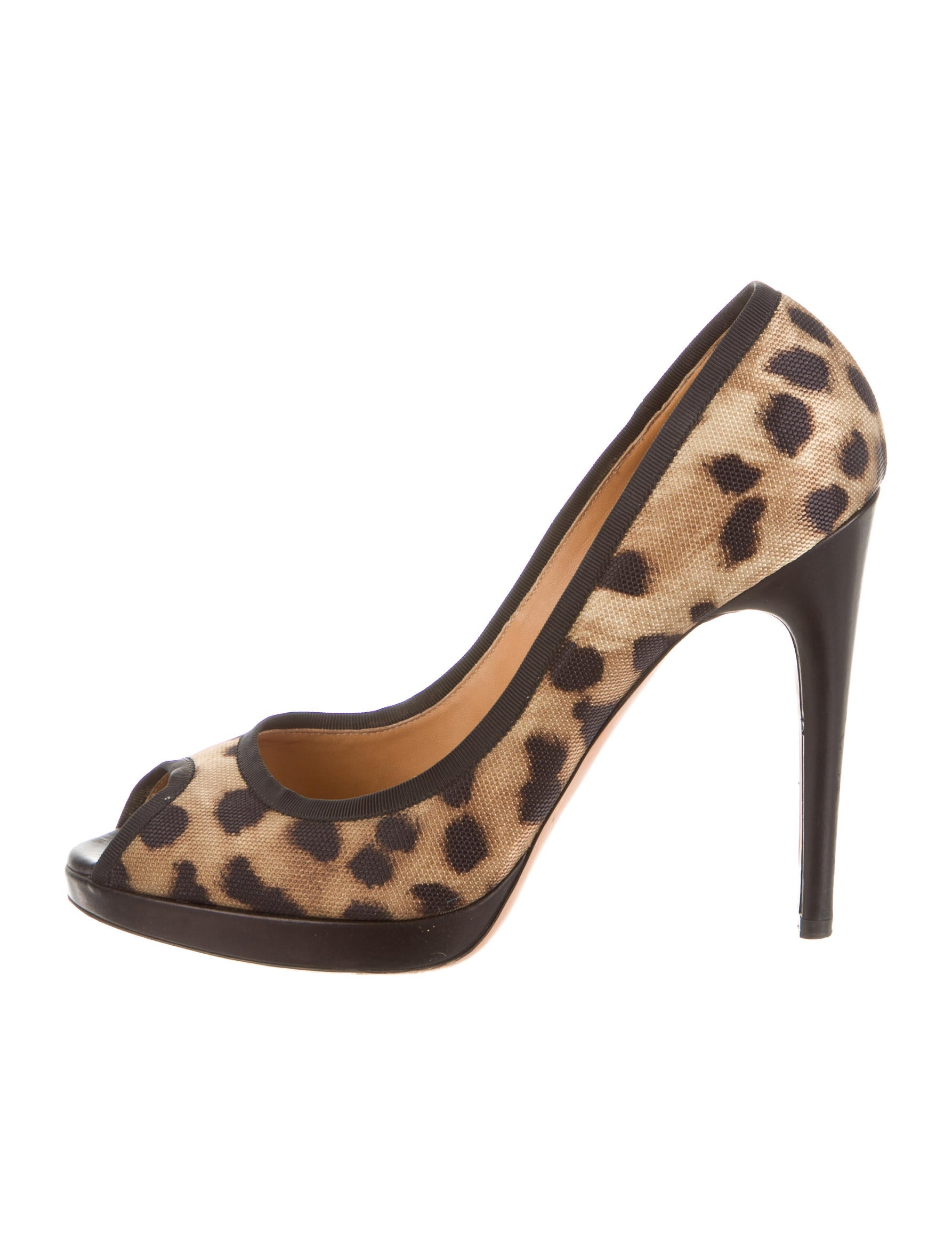 Casadei Leopard Peep-Toe Pumps from china free shipping oPpDolXvR