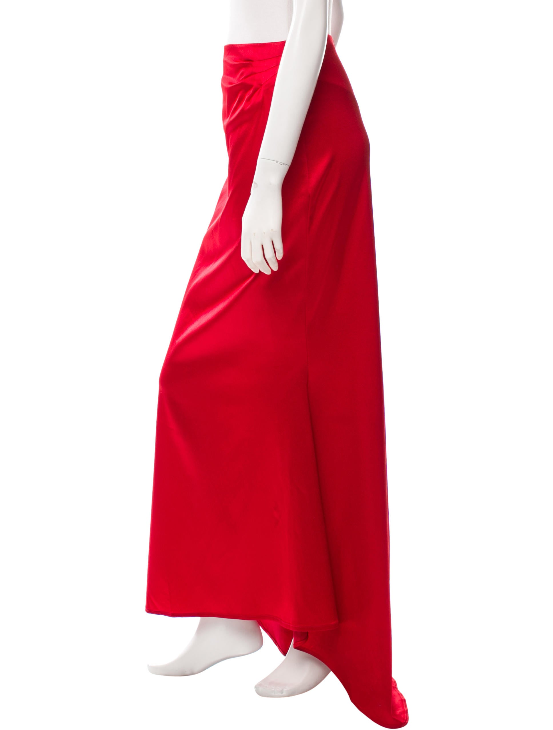 casadei maxi high low skirt clothing cei21747 the
