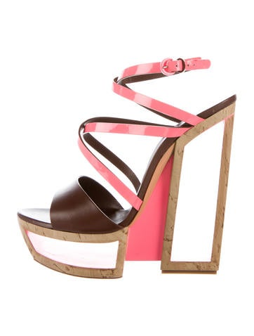 Fluo Cork Plarform Wedges