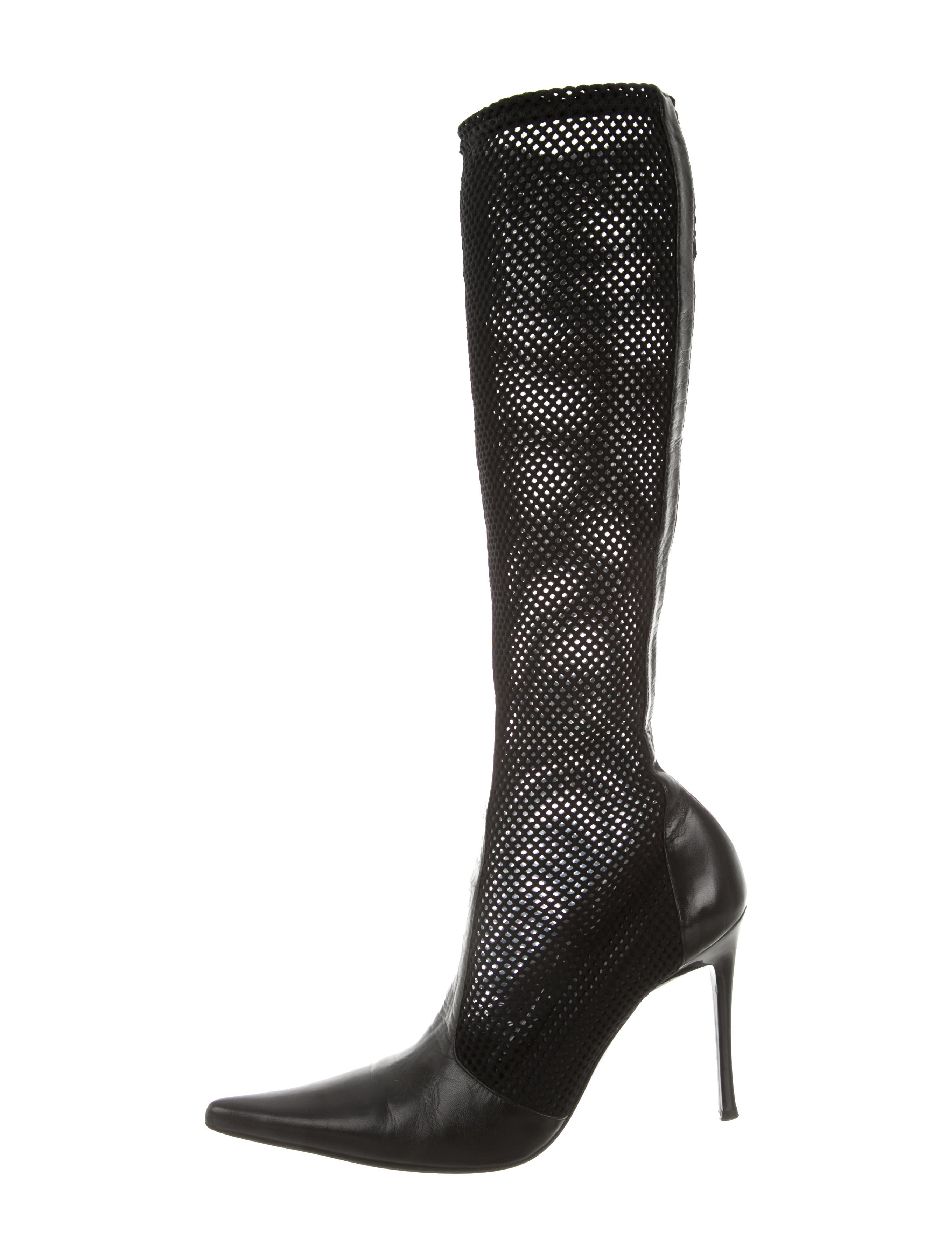 casadei perforated knee high boots shoes cei22200