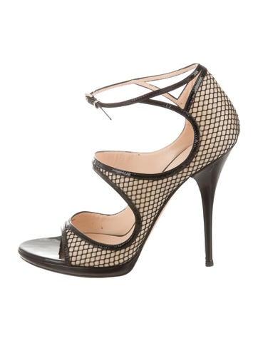 Mesh Ankle-Strap Sandals