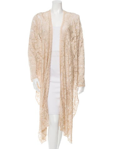 Casadei Open Front Lace Cardigan None