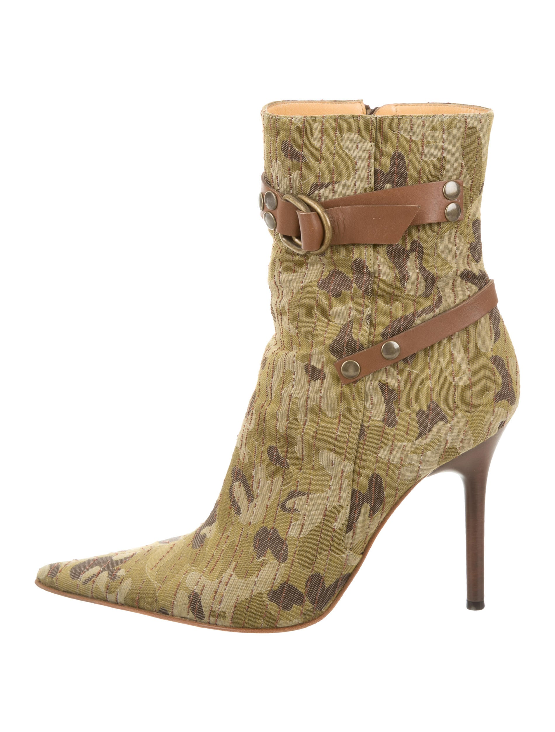 casadei camouflage ankle boots shoes cei22290 the