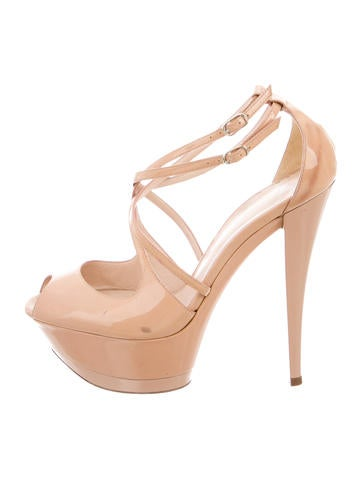 Casadei Patent Leather Platform Sandals None