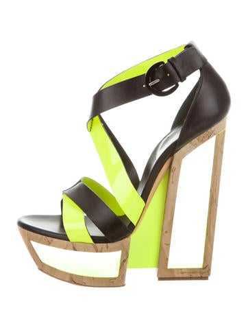 Casadei Cutout Platform Wedges None