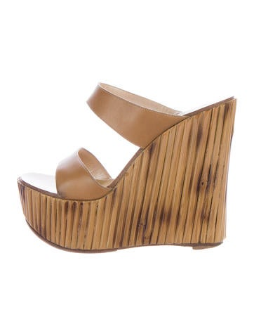Casadei Platform Wedge Sandals None