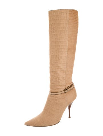 casadei ponyhair knee high boots shoes cei22485 the