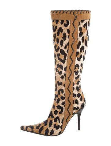Casadei Printed Knee-High Boots None