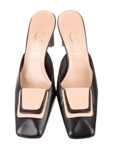 Leather Square-Toe Mules