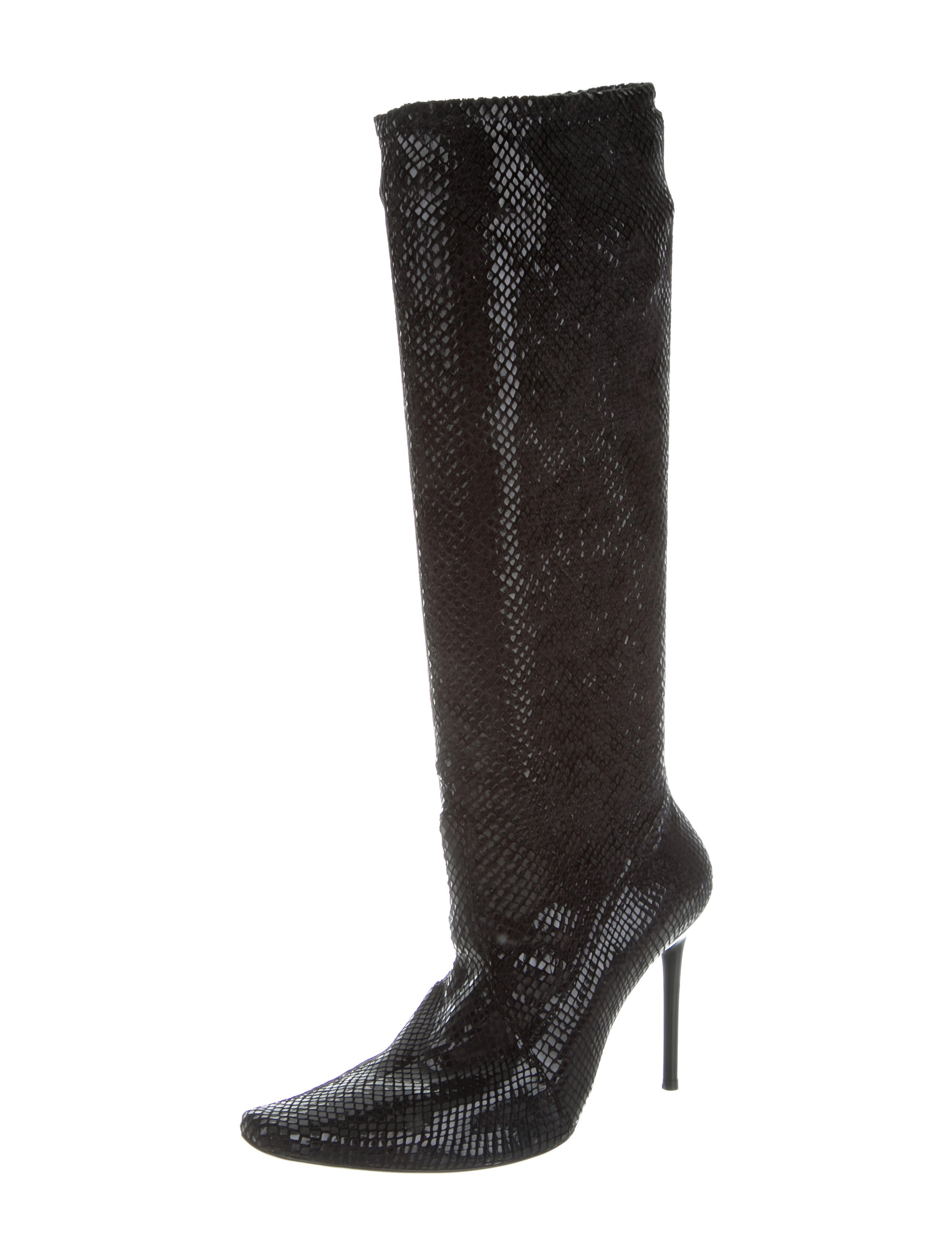 casadei embossed knee high boots shoes cei22754 the realreal. Black Bedroom Furniture Sets. Home Design Ideas