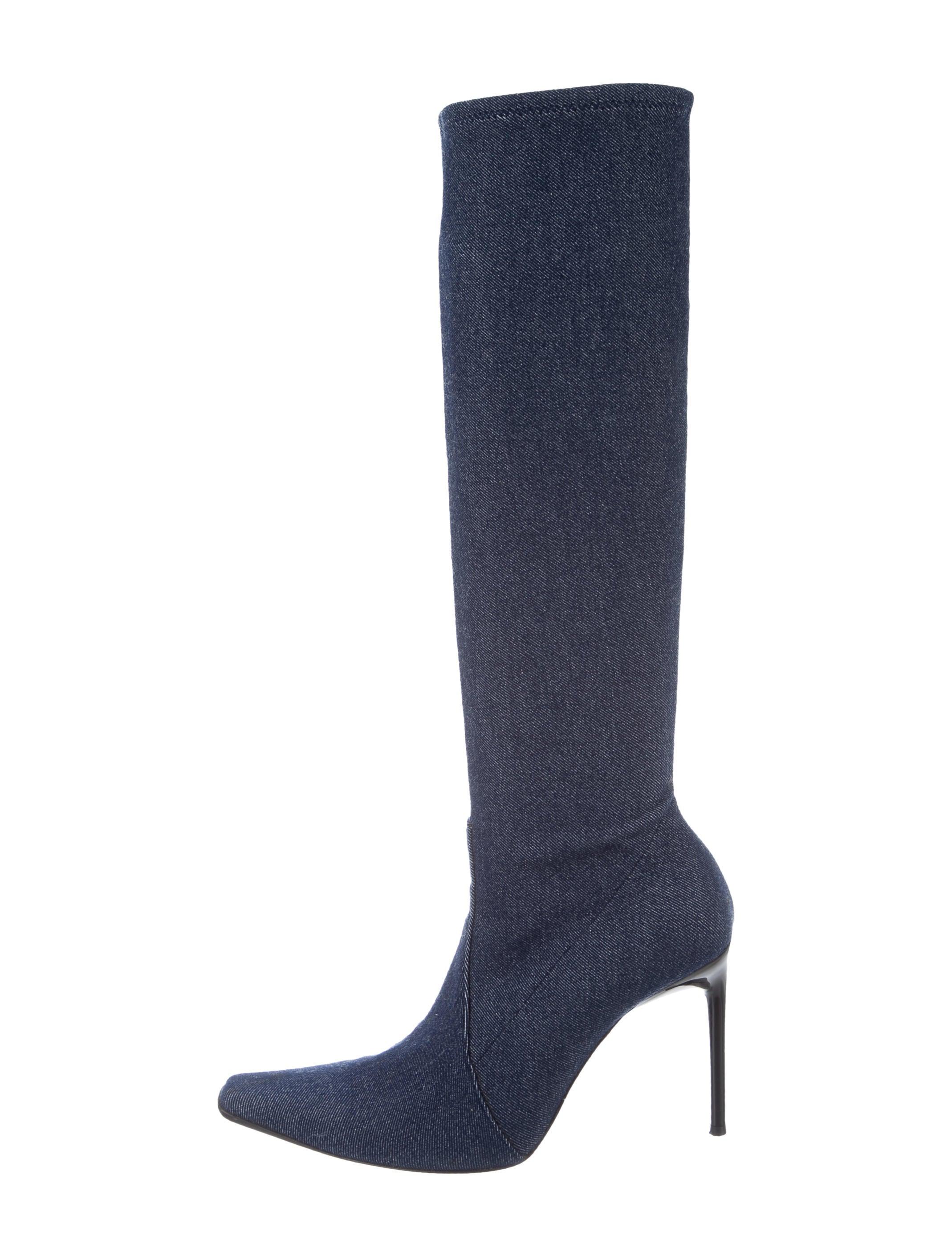 casadei denim knee high boots shoes cei22853 the