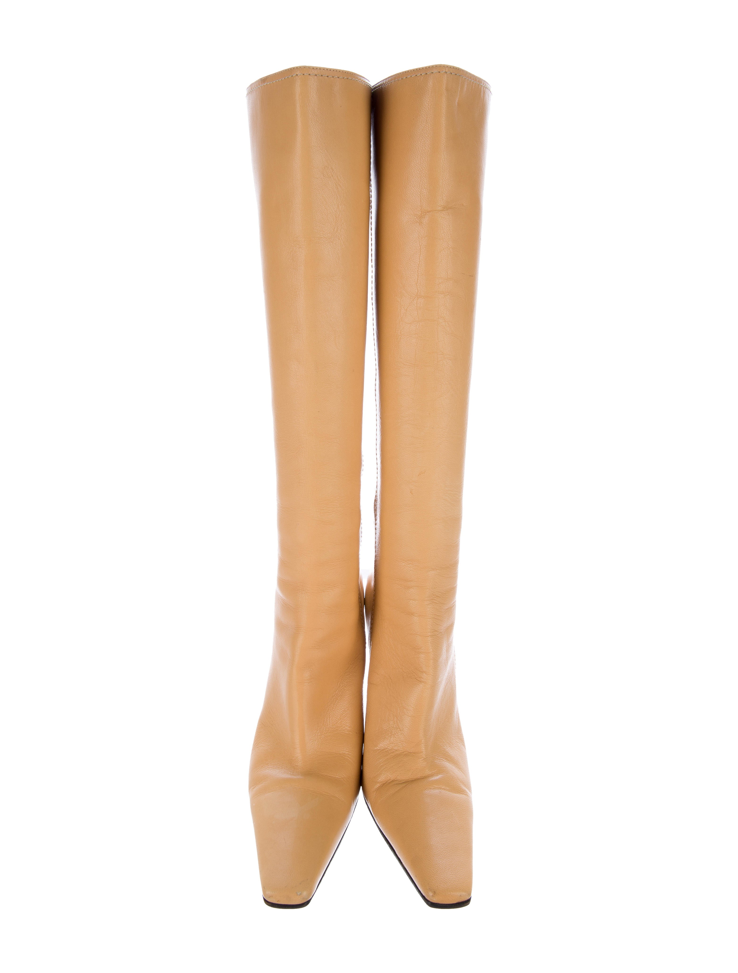 casadei leather knee high boots shoes cei23202 the