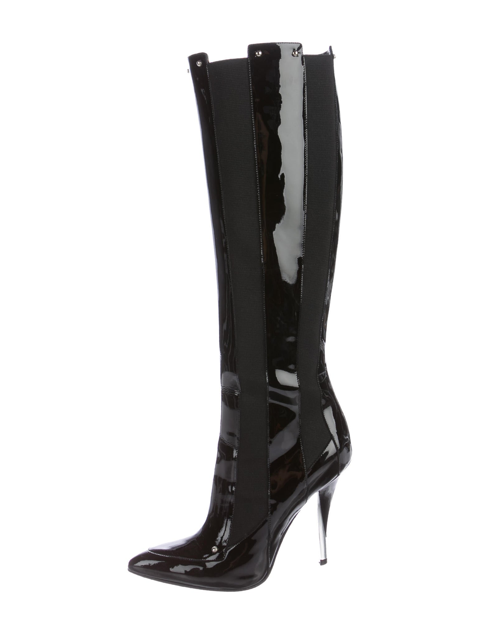 casadei patent leather knee high boots shoes cei23231