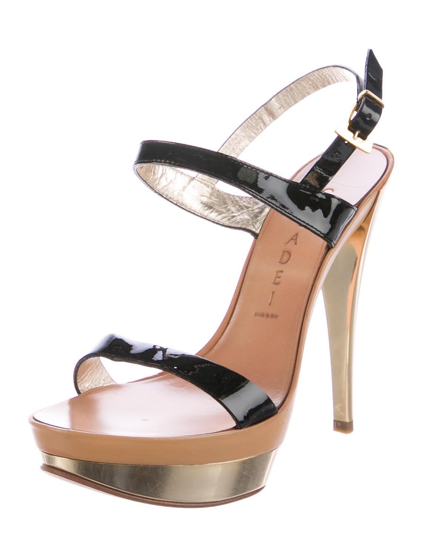 casadei patent leather platform sandals shoes cei23445