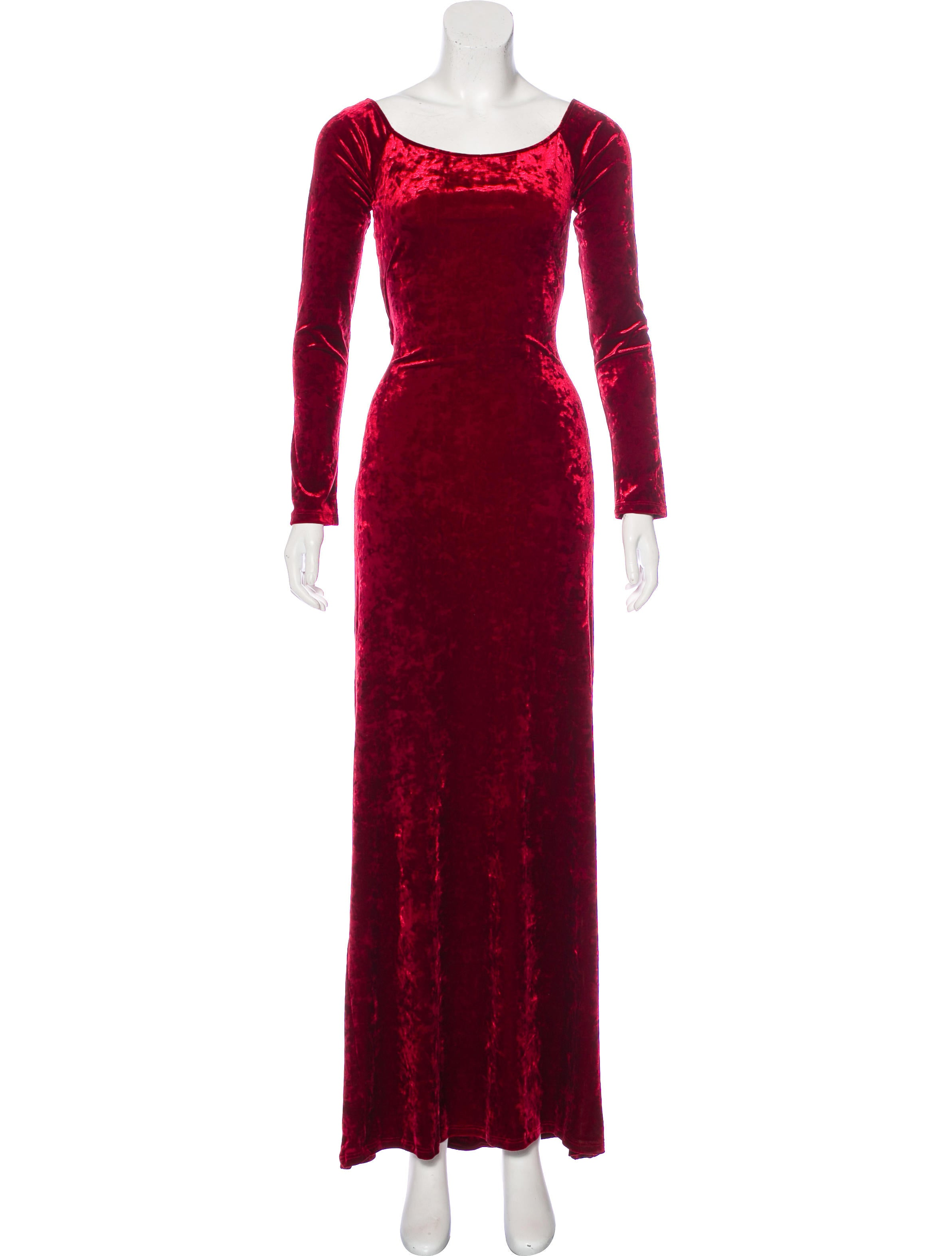 Casadei Velvet Evening Dress - Clothing - CEI23551 | The RealReal