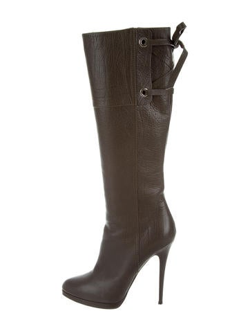 Casadei Leather Knee Boots None