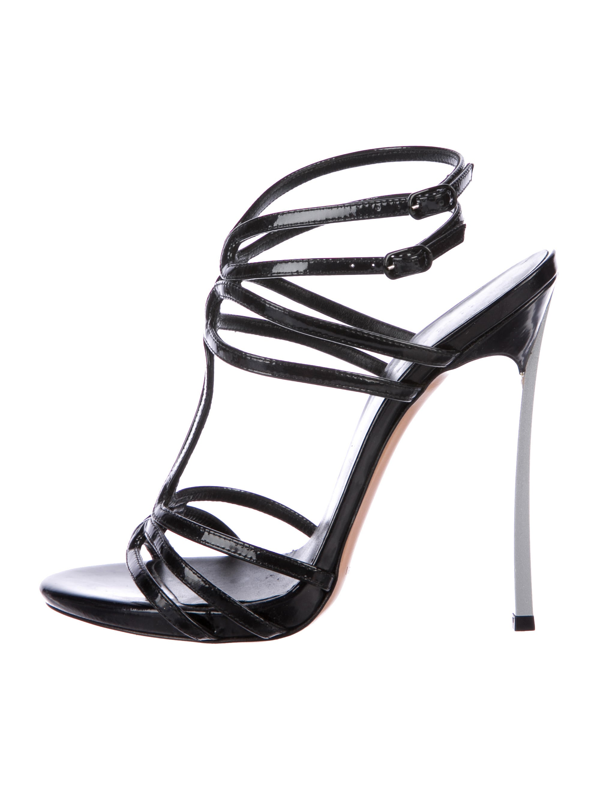 cheap sale 100% guaranteed Casadei Patent Leather Cage Sandals outlet perfect 6HG1V37PqE