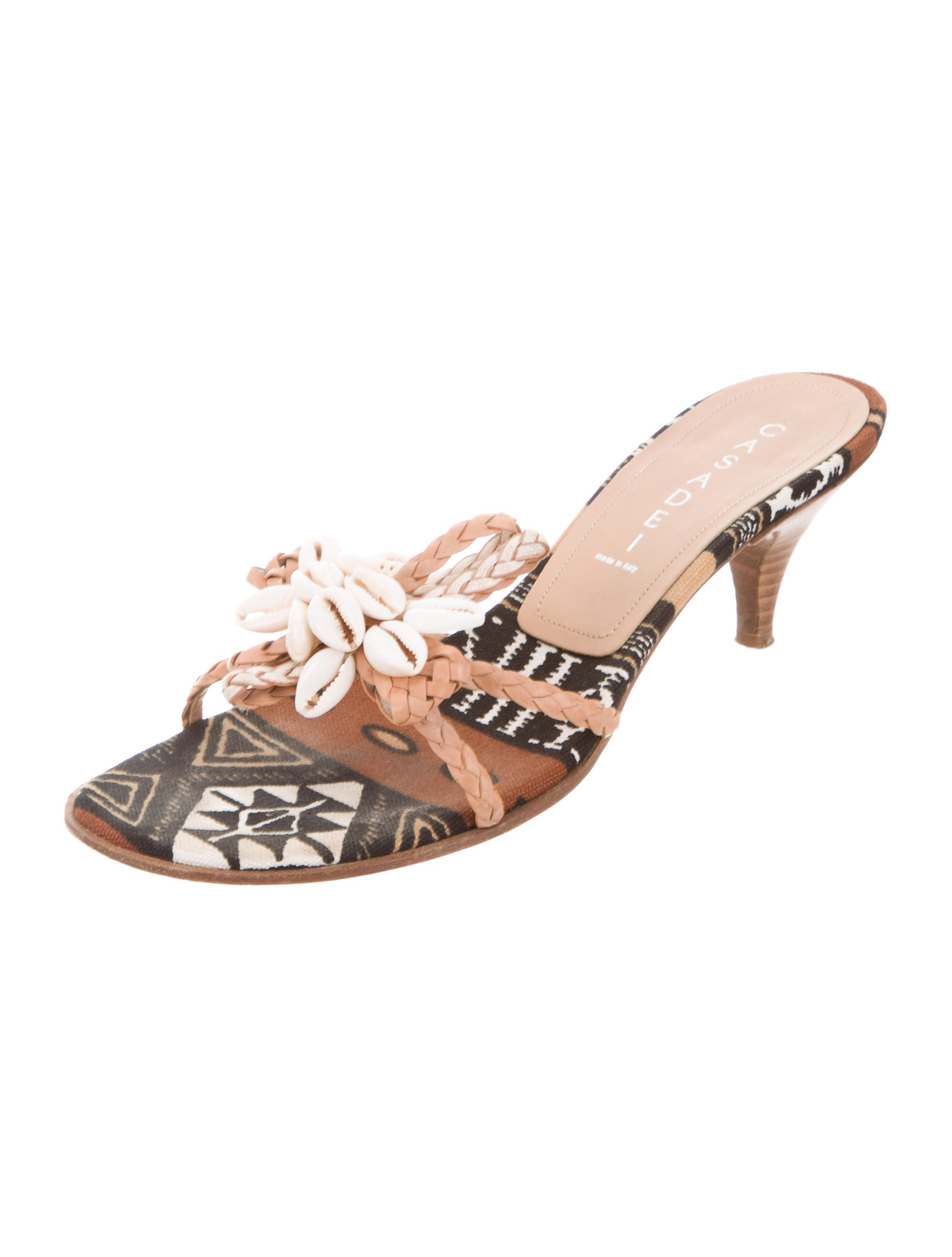 Casadei Seashell-Embellished Slide Sandals amazon online discount wholesale price clearance amazing price DEYYrVGdd