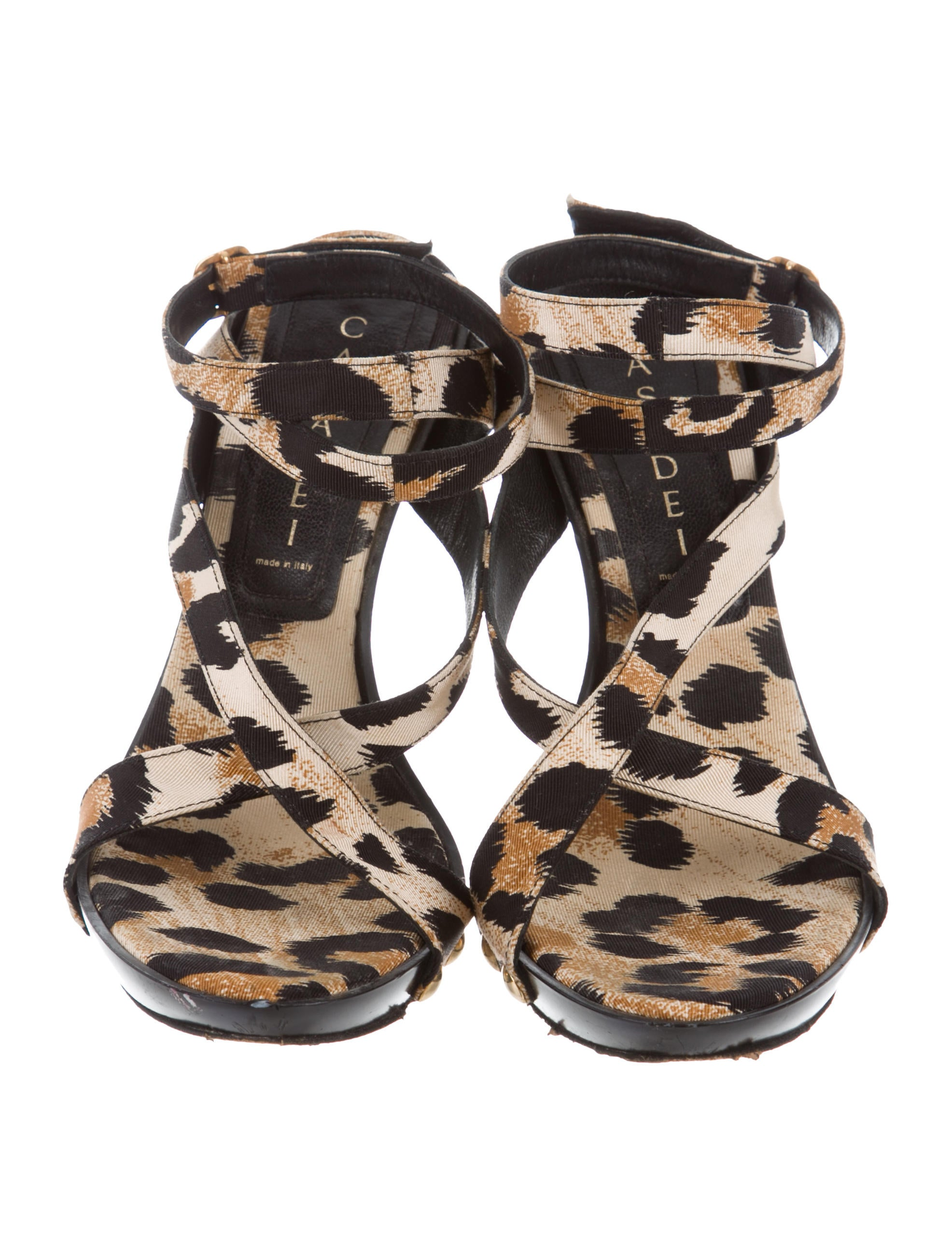 Casadei Leopard Crossover Wedges buy cheap sale buy cheap free shipping qe6d2dk