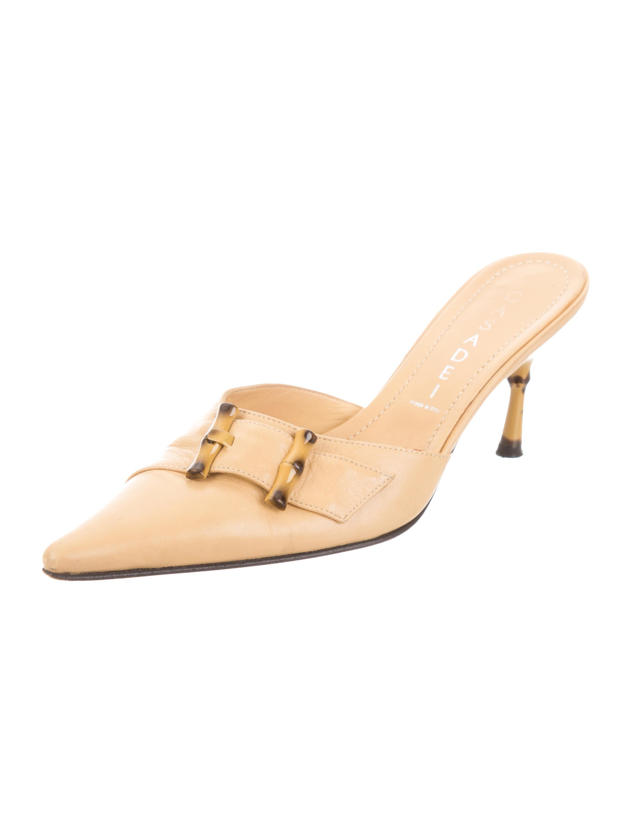 Casadei Leather Pointed-Toe Mules view original cheap online plPCY