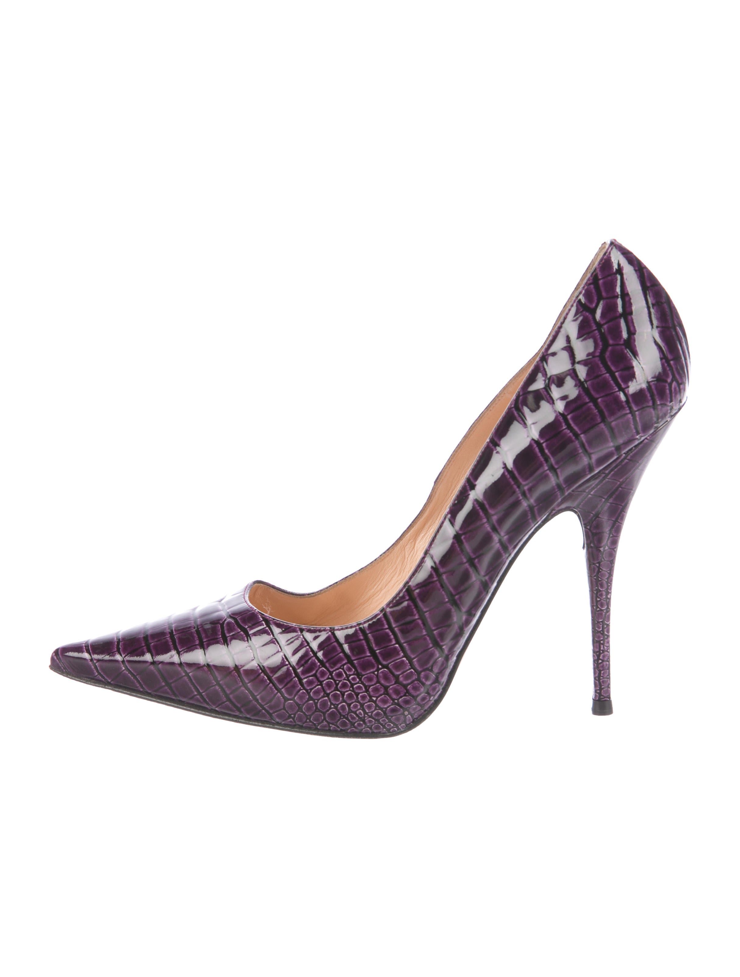 free shipping popular buy cheap store Casadei Embossed Pointed-Toe Pumps cheap sale pay with visa cWiPg