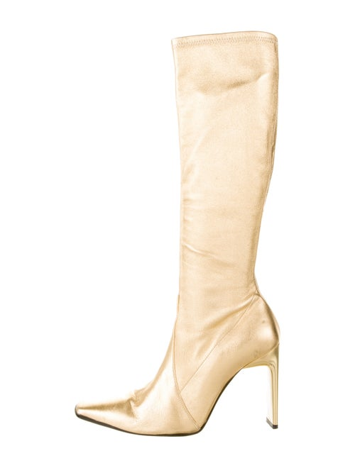 Casadei Leather Boots Gold