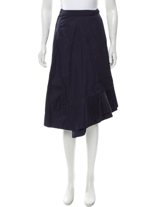 Knee-Length Wrap Skirt