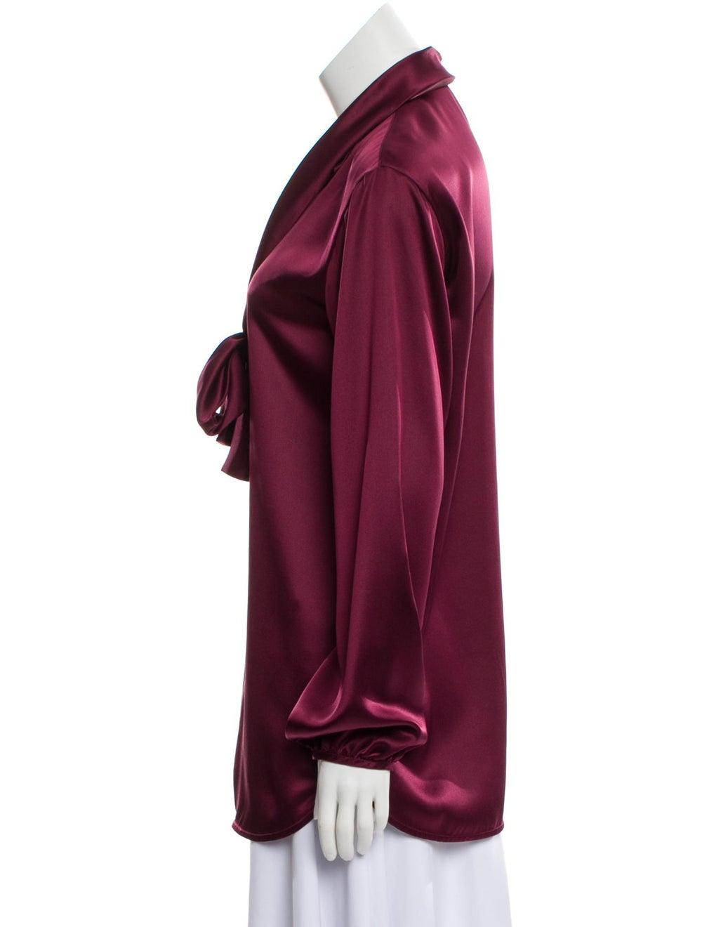 Celine Silk Long Sleeve Blouse - image 2