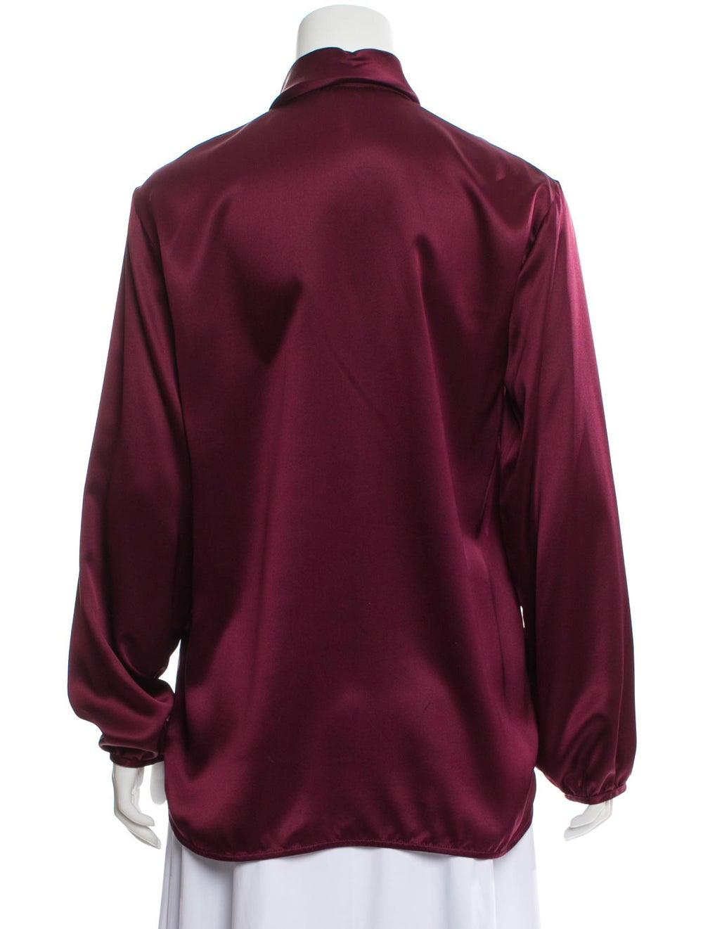 Celine Silk Long Sleeve Blouse - image 3