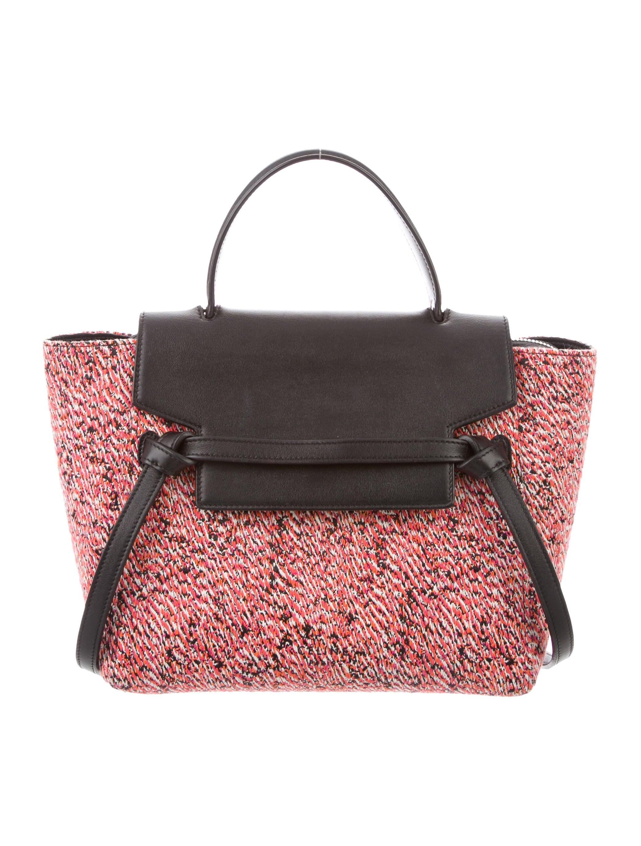 Celine Micro Fuzzy Jacquard Belt Bag Handbags Cel103160 The Realreal