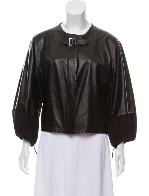 Celine Lightweight Leather Jacket Black