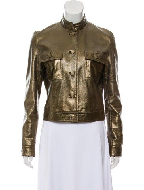 Celine Metallic Leather Jacket Gold - image 1