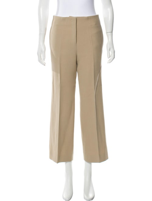 Celine High-Rise Wool Pants Khaki