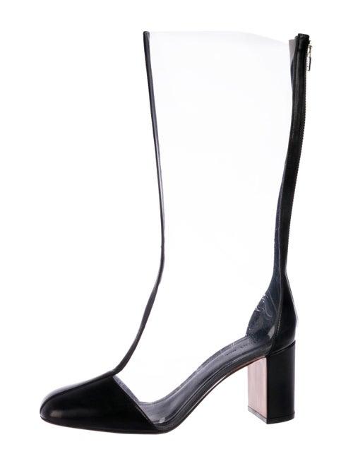 Celine PVC Mid-Calf Boots Clear