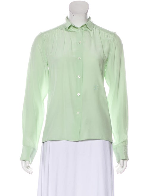 Celine Silk Long Sleeve Blouse
