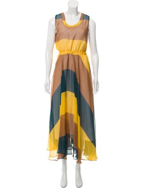 Celine Printed Maxi Dress multicolor