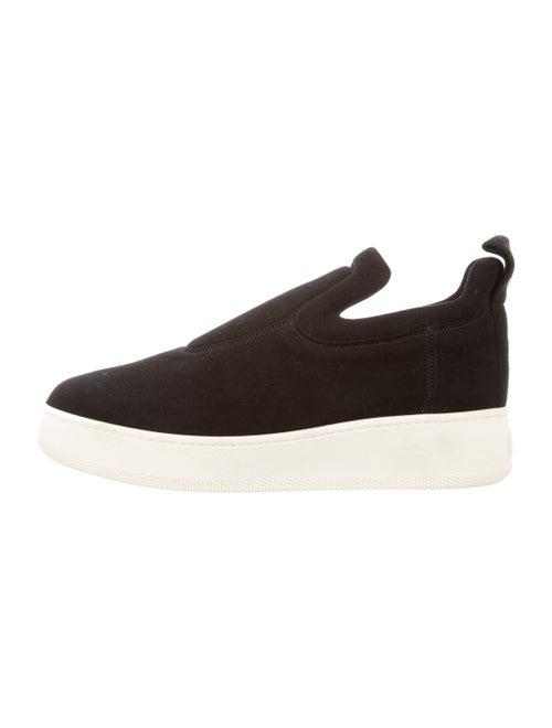 Celine Suede Platform Sneakers Black