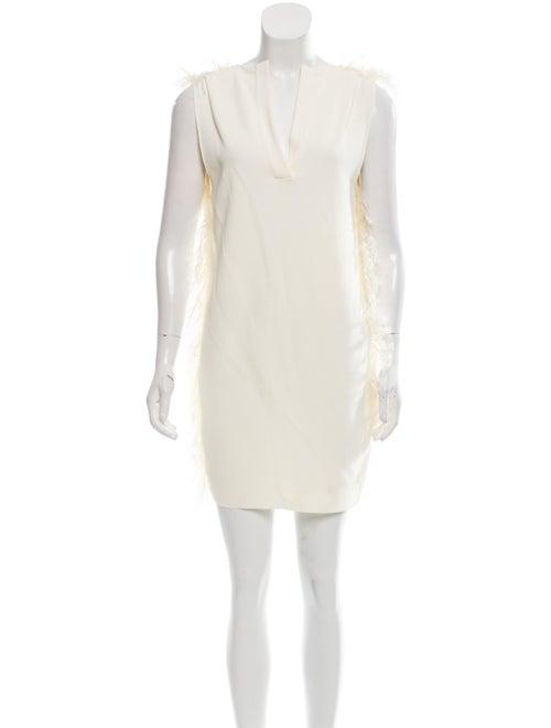 Celine Feather Embellished Mini Dress