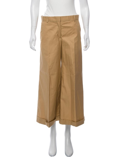 Celine Cropped High-Rise Pants Khaki