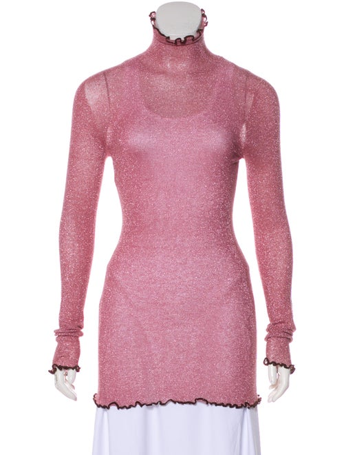 Celine Turtleneck Long Sleeve Top Pink