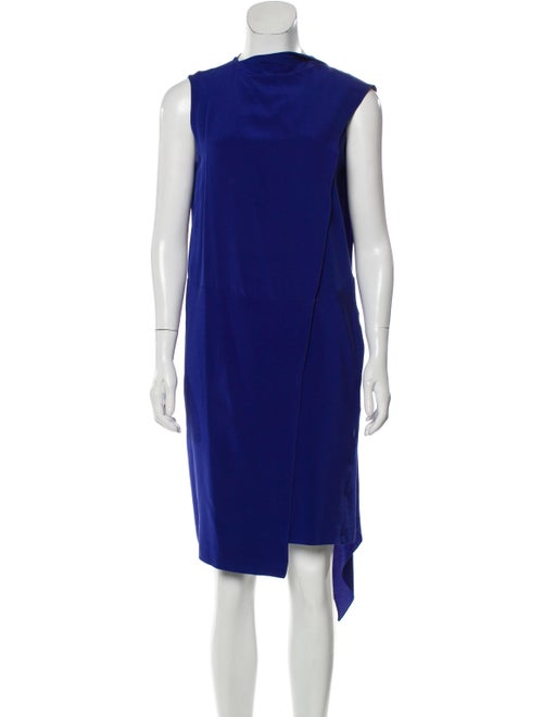Celine Silk Wrap Dress blue