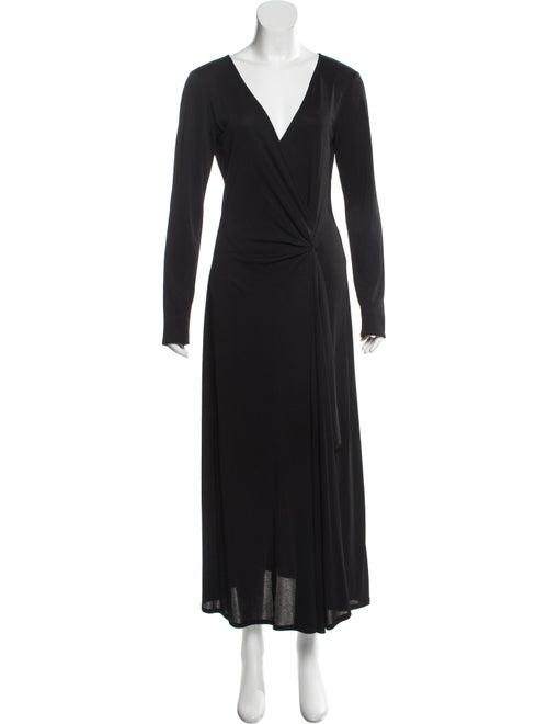 Celine Long Sleeve Maxi Dress Black