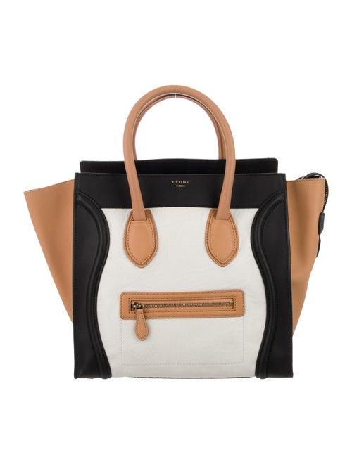 Celine Mini Luggage Tote White