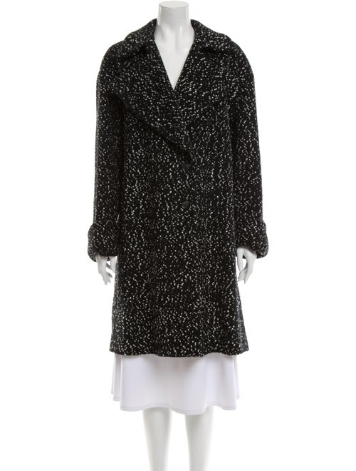 Celine Wool Polka Dot Print Coat Wool