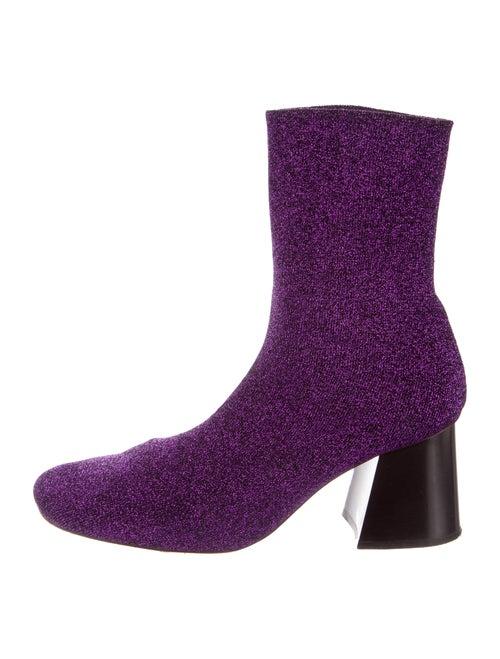 Celine Glitter Ankle Boots Purple